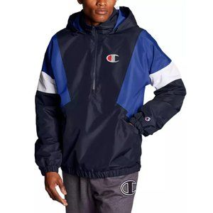 Champion Navy Stadium Anorak 1/2 Zip Jacket Large